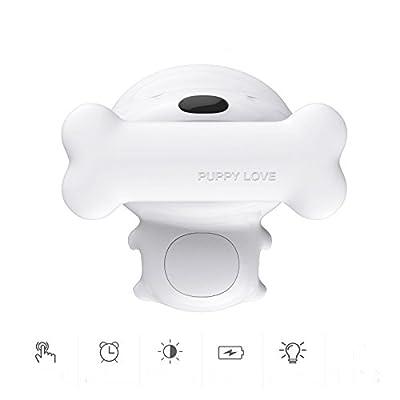 ADM-LC Veilleuse Enfant bébé LED Lampe Chevet enfant en forme du chien,Touche,Eteindre auto(TIMING) USB recharge,