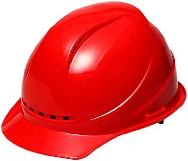 LCSHAN 衝撃補強のためのゴーグルが付いている換気場所の安全ヘルメット (Color : Red)