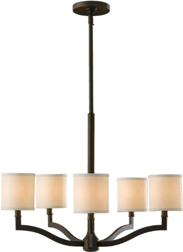 Feiss F2519/5ORB Stelle Chandelier Lighting with Shades, Bronze, 5-Light (26