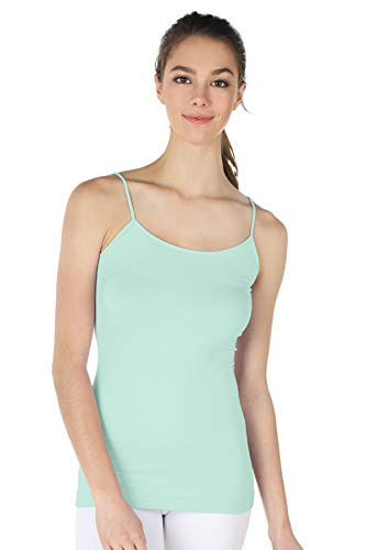(NIKIBIKI Women Seamless Premium Classic Camisole, Made in U.S.A, One Size (Mint Cream))