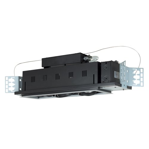 3wb Wall Lights - Jesco Lighting MGP20-3WB Modulinear Directional Lighting For New Construction, Double Gimbal PAR20 3-Light Linear, Black Interior With White Trim
