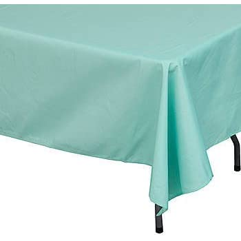 Mint Green Rectangle Polyester Tablecloth