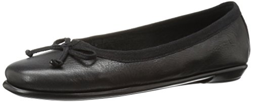 Aerosoles Women's Fast Bet Ballet Flat, Black Leather, 5.5 M US