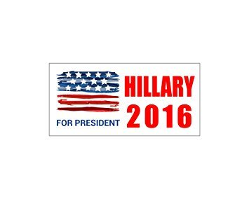 Car Magnet Hillary 2016 Clinton For President Bumper Sticker Trm 272