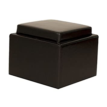 Amazoncom Butler Leather Flip Top Storage Ottoman with Wooden