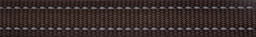 Picture of ROGZ Reflective Dog Collar for Extra Large Dogs, Adjustable from 17-27 inches, Brown