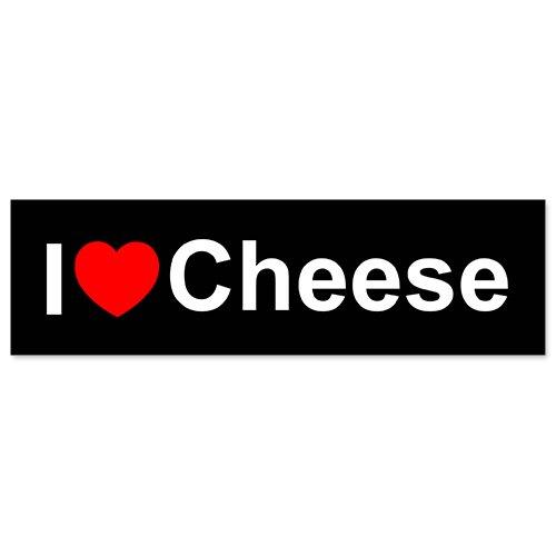 Car Bumper Sticker - I Love Heart Cheese (Cheese Love Sticker)