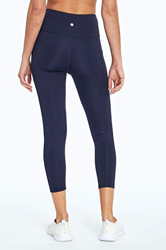 Bally Total Fitness High Rise Pocket Mid-Calf Legging, Midnight Blue, X-Large