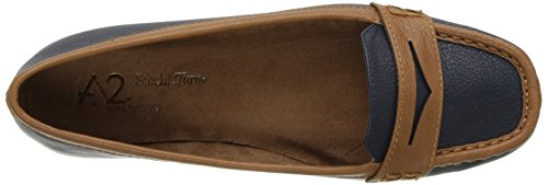 A2 by Aerosoles Women's Sandbar Slip-on Loafer Navy Combo