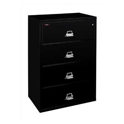 Fireproof 4-Drawer Vertical File Finish: Taupe, Lock: E-Lock