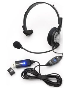USB High Quality Digital Monural Headset (Catalog Category: Audio/Video/Electronics / General Electronics)