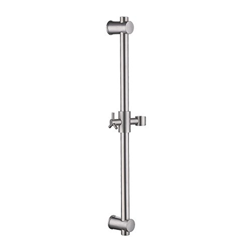 Shower Height Kit (KES Slide Bar with All Brass Handheld Shower Bracket Stainless Steel Height and Angle Adjustable, Brushed, F203-2)