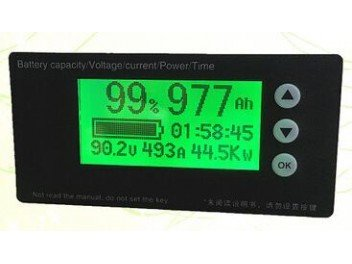 10-100V 150A Max Battery Fuel Gauge, Universal Accurate Coulometer for lead acid, Li-ion,LiFePo4 battery,LCD display Stages Power Meter Battery by YZ