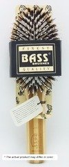 (Brush - Large Oval Cushion 100% Wild Boar/White Nylon Bristles Beveled Wood Handle Bass Brushes 1 Brush)