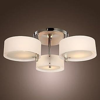 moderno lampadario 3 luci led soffitto lampade per soggiorno sala ... - Illuminazione Camera Letto Led