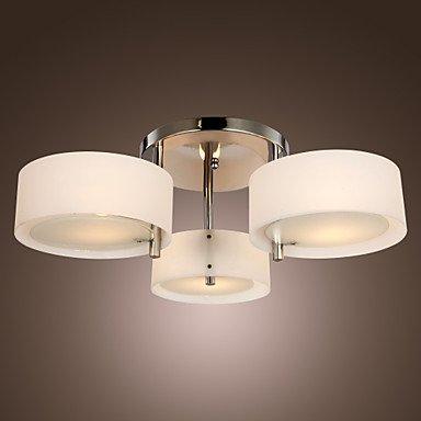 Makenier moderno lampadario soggiorno 3 luci: Amazon.it: Illuminazione
