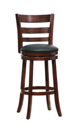 Dark Cherry Counter - Homelegance 1144E-29S Swivel Pub Height Chair/Stool, Dark Cherry