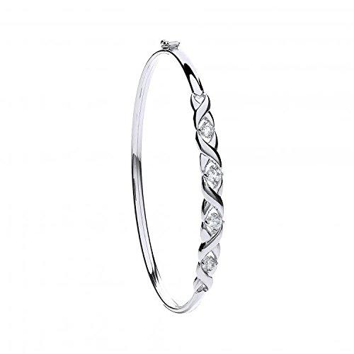9ct or blanc CZ pour femme Bracelet 5.0G
