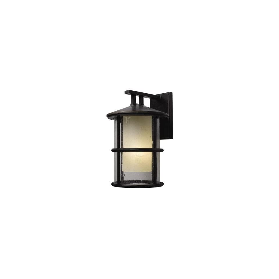Hampton Bay Chalet Collection Brunette finish 1 Light 8 in. Wall Lantern
