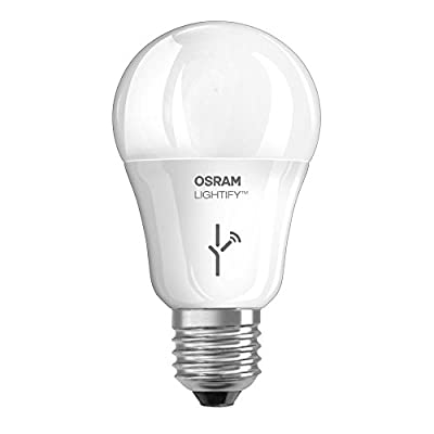 Osram Lightify 9-Watt (60W Equivalent) 2,700K A19 Dimmable Soft White LED Bulb with Built-In WiFi