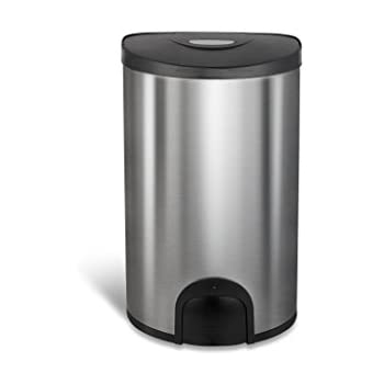 Amazon Com Kes Stainless Steel Square Step Trash Can With