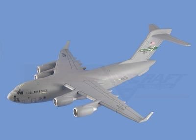 C-17 Globemaster III - USAF Airplane Model Toy. Mahogany Wood Model Aircraft Scale: 1/125