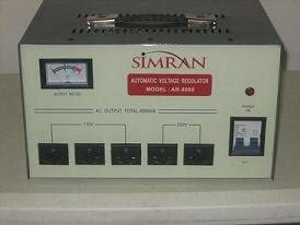 3000 WATT Simran AR-3000 Power Converter Regulator Stabilizer Voltage Transformer Ivory//Gray