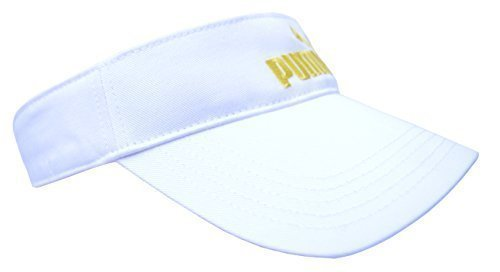 Puma Womens White Visor Cap Ladies Sports Tennis Golf Running Sun ... f1316313d8f