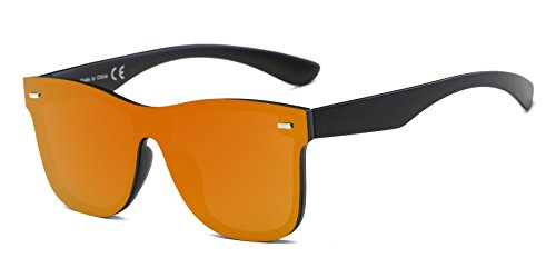 Cramilo Reflective Mirrored Lens Rimless Squared - Discount Raybands