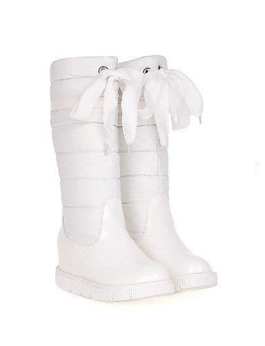 Redonda Punta De Semicuero Uk6 5 us8 Cn43 Patentado Cuero A Eu42 Cn39 Botas White Vestido Plataforma us10 Uk8 Zapatos Mujer Nieve Xzz Red La 5 Moda Casual Eu39 0ZxFYY