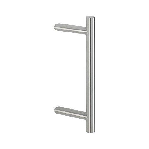 Hoppe E5011Stainless Steel Matt, Design: Straight, Rod Handle Shock House Door Pull Handle, 2011555