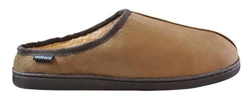 Van Heusen Men's Barry Open Back Faux Fur Slipper Chestnut nHiLml1ae