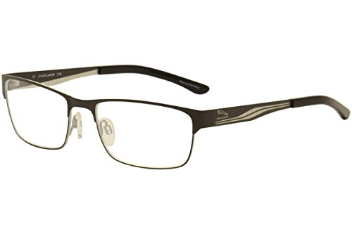 Jaguar Men's Eyeglasses 33561 863 Gunmetal/Black Full Rim Optical Frames - Jaguar Frames Eyeglass