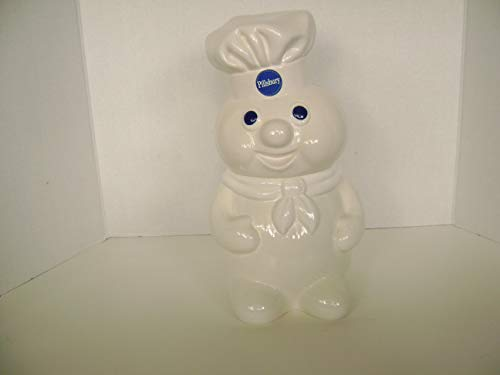 1988 Pillsbury Doughboy Ceramic Cookie Jar - 12 inches ()