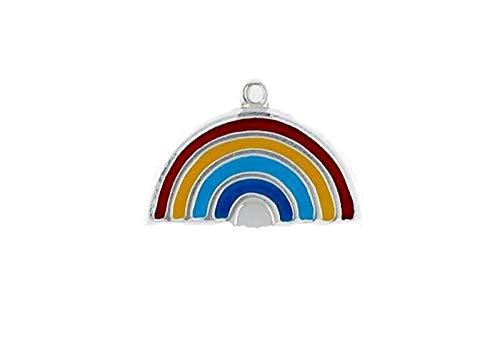 Pendant Jewelry Making/Chain Pendant/Bracelet Pendant Sterling Silver Enameled Rainbow Charm (Chain World New Bronze)