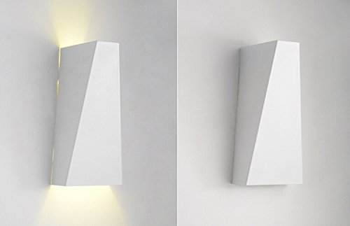 Injuicy Lighting LED Wall Lamp Sitting Room Hotel Bedroom Stairs Aisle Aluminum White/Black Wall Lamp (White)