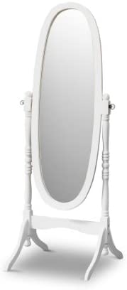 Poundex Victoria Floor Mirror White