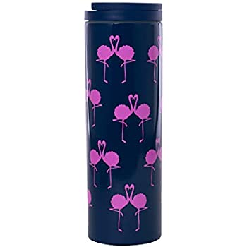 cc98ac2bd5c Lilly Pulitzer Stainless Steel Travel Mug with Leak Proof Lid, 18 Ounces,  Flamingo Pink