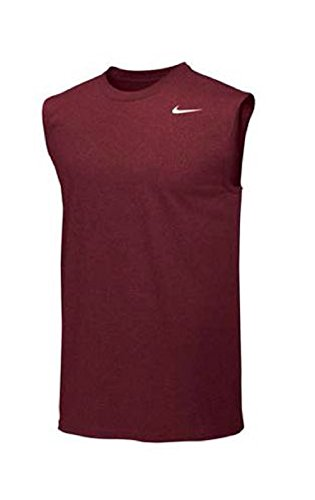 - Nike Mens Legend Dri Fit Sleeveless T Shirt (XX-Large, Cardinal)