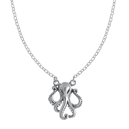 Boma Jewelry Sterling Silver Octopus Necklace, 16 Inches
