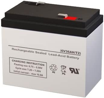 12-569 6 Volt 36 AmpH SLA Replacement Battery with F2 Terminal