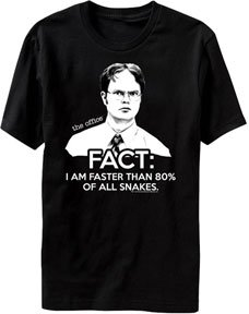 The Office TV Show Dwight Fact Faster Than Snakes Men's T-shirt S