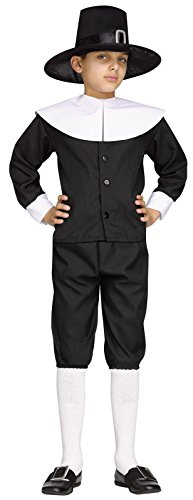 [Fun World Pilgrim Boy Child Costume, Medium] (Boy Pilgrim Costumes)