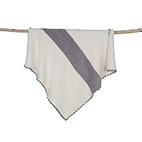 Barefoot Dreams Cozy Chic Striped Receiving Blanket - Dove ()