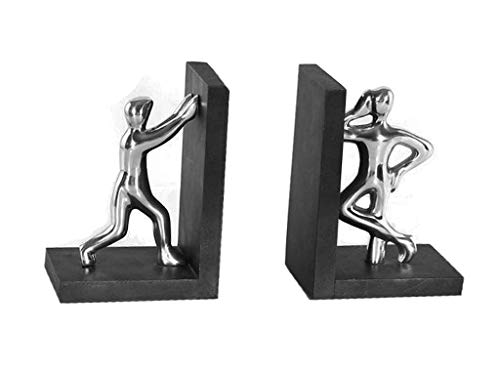 Aparador De Livros Figuras Sarquis Samara Prata/preto