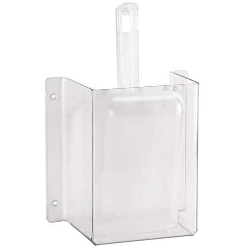 (Cal-Mil 624 Wall-Mount Scoop Guard w/ 32-oz Scoop - Polycarbonate, Clear)