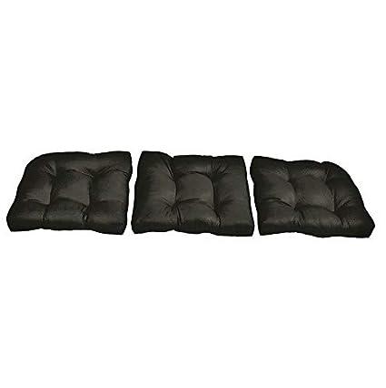 Amazon.com: Hebel Solid Sunbrella Sofa Cushions - Set of 3 ...