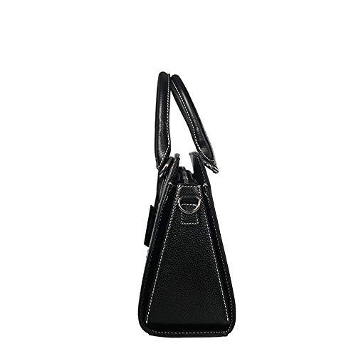bag bag cosmetic women's bag �� Black notebook LEATURY bag shoulder Handbag tote leather handbag z8tAnv6