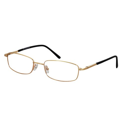 EyeBuyExpress Rectangle Gold Reading Glasses Magnification Strength 2.5 by EyeBuyExpress