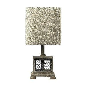 Artistic Lighting 93-9150 Dimond Lighting Delambre Chicken Wire Mini Lamp, 7'' x 8'' x 13'', Montauk Grey